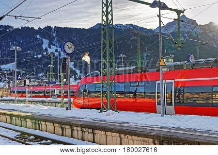 High Speed Trains Of Garmisch Partenkirchen
