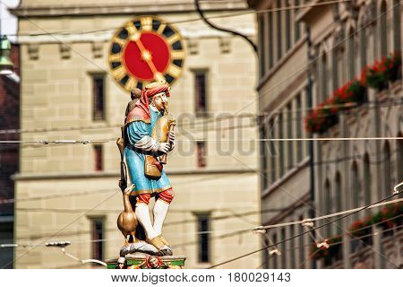 Piper Fountain On Spitalgasse Street Bern