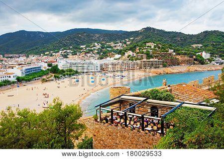 Beach Full Of People In Tossa De Mar