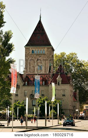 Chateau Ouchy In City Center Of Lausanne