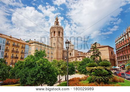 Metropolitan Cathedral And Micalet Tower Valencia
