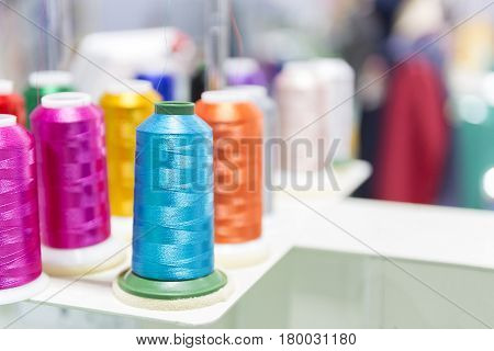 The colorful of the thread coil for sewing industry