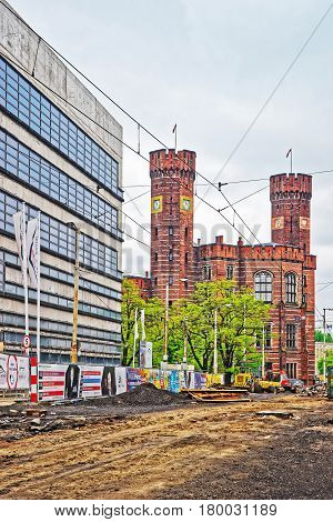 Wroclaw Poland - May 3 2014: District court in Wroclaw Poland