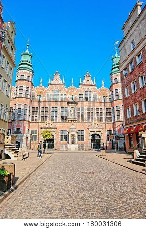 Great Arsenal On Piwna Street In Old City Center Gdansk