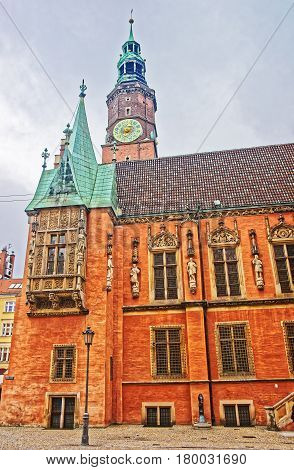 Old Town Hall In Market Square In Wroclaw