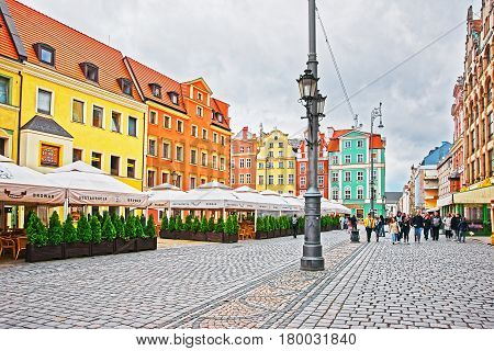 People In Market Square In Wroclaw