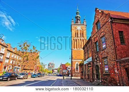 St Catherine Church In City Center In Gdansk