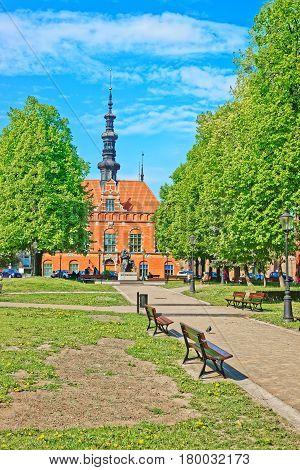 Statue Of Jan Heweliusz In Modern Gdansk