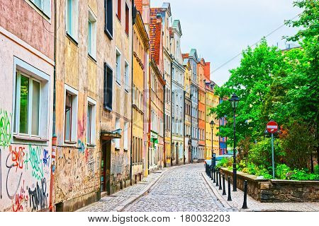 Street In Old Town Of Wroclaw