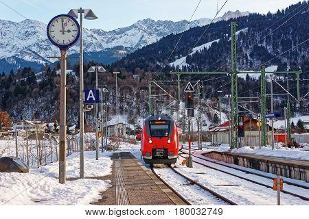 High Speed Train Garmisch Partenkirchen