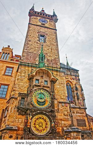 Astronomical Clock In Old Town Hall In Prague