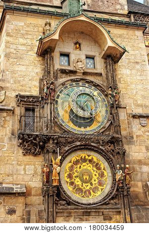 Astronomical Clock At Old Town Hall In Prague