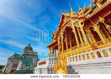 Ananta Samakhom Throne Hall With Barom Mangalanusarani Pavillian At The Royal Dusit Palace In Bangko