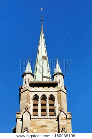 Steeple Of St Francois Church In Lausanne