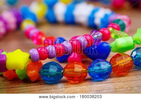 Bead product. bracelet with colored beads handmade