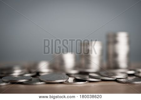 Saving money concept money coin stack growing business