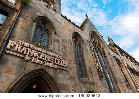 Frankenstein Pub In The Old Town Of Edinburgh