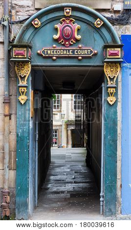 Entrance Of The Tweeddale Court In Edinburgh