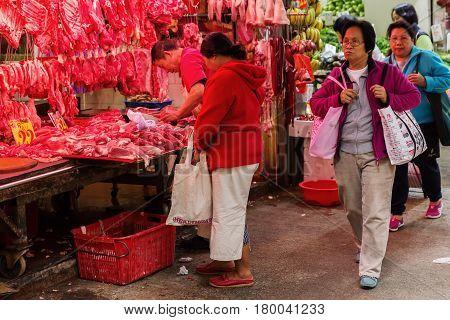 At A Butchery In Kowloon, Hong Kong