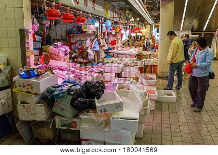 Meat Shop In Kowloon, Hong Kong