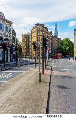 Street View In Southwark, London