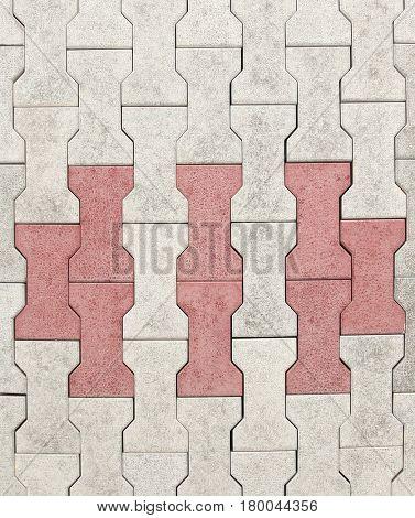 Concrete blocks for sidewalk or pavement columns