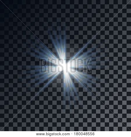 vector lens flare effect on esp10 format with transparent background