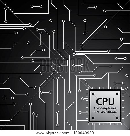 Cpu. Microprocessor. Microchip And Circuit Board.