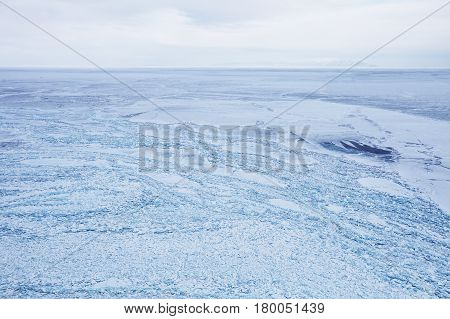 Ice-drift Field Of Lake Baikal