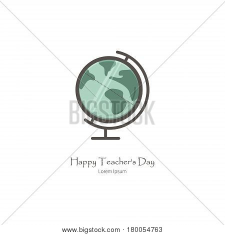 Simple illustration of globe. Isolated background. The perfect logo for Your business. The educational series