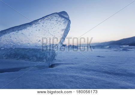 Ice Floe Of Baikal Lake.