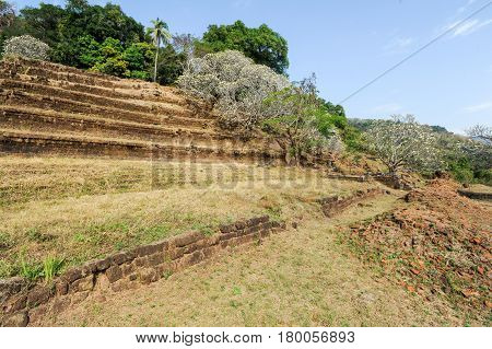 The Steps To The Temple Of Wat Phu At Champasak