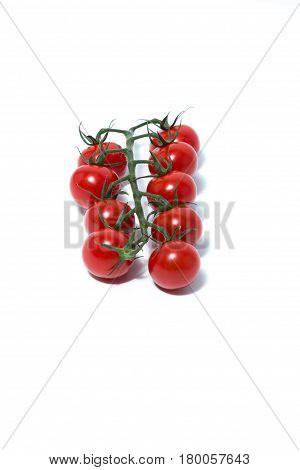 Cherry Tomato isolated in a bright white Background