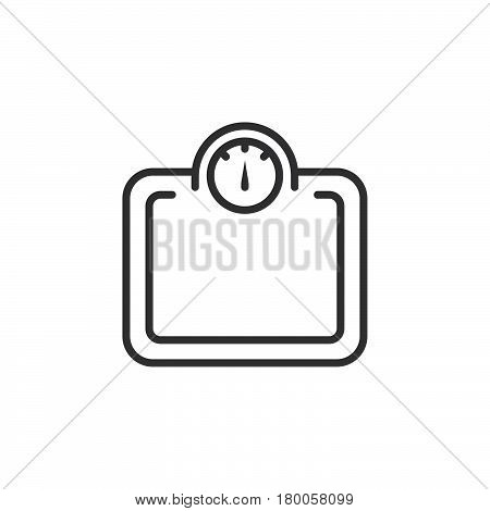 Weight scale line icon outline vector sign linear pictogram isolated on white. logo illustration
