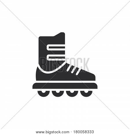 Inline skate icon vector roller solid flat sign pictogram isolated on white logo illustration