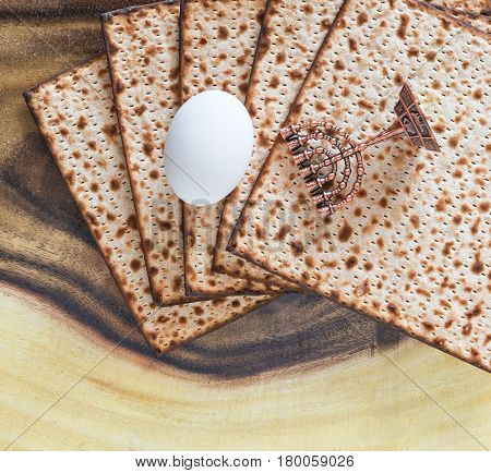 Traditional food matzo and for Jewish Passover celebration