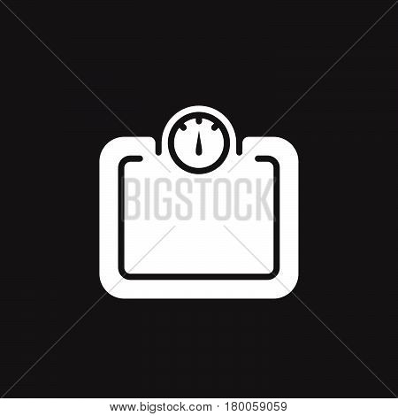 Weight scale icon vector solid flat sign pictogram isolated on black logo illustration