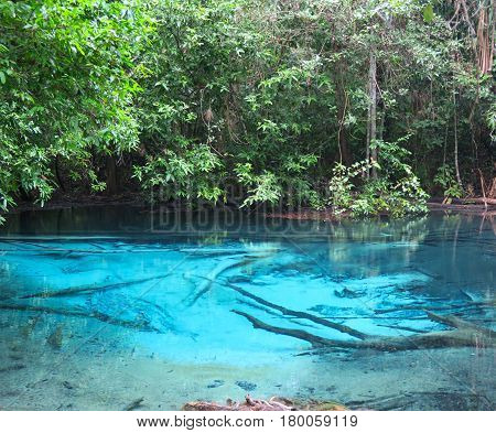 amazing blue pool with hot water Thailand