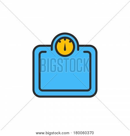 Weight scale line icon filled outline vector sign linear colorful pictogram isolated on white. logo illustration