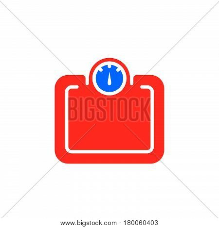 Weight scale icon vector solid flat sign colorful pictogram isolated on white logo illustration