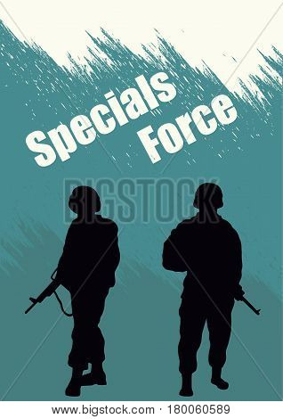 Illustration booklet special forces soldiers.  Illustration booklet special forces soldiers.