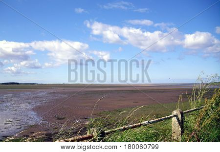 Budle Bay at Low Tide in Northumberland