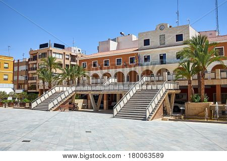 Views of the city Guardamar del Segura. Municipality. The town hall building. The mayor's office