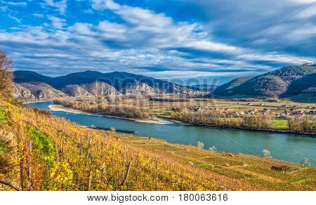 Wachau Valley At Sunset, Lower Austria, Austria