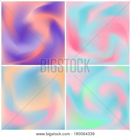 Set of fluid colors background for banner, cover, flyer, brochure, wallpaper, invitation card, poster.