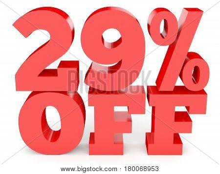 Twenty Nine Percent Off. Discount 29 %.