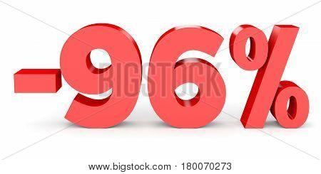 Minus Ninety Six Percent. Discount 96 %.