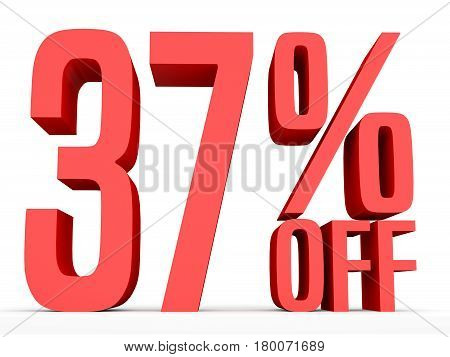 Thirty Seven Percent Off. Discount 37 %.