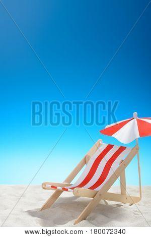 Deckchair On The Beach