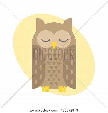 Cute vector funny cartoon owls. Animal character cartoon owl comic funny. Doodle cheerful bird cartoon owl. Adorable different owl expression bird